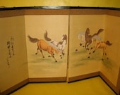 Screen Wall Hanging Horses Oriental RESERVERED