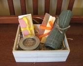 Small Gift Basket Soap Set Hand Soap Scrub