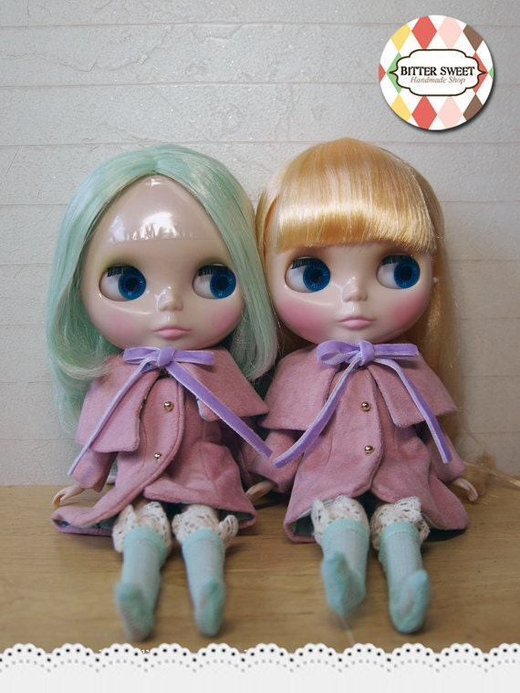 Blythe Coats SET- lovely pink,mint color