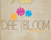 Dae Bloom Premade Logo Design with Watermarks, JPG, and PDF