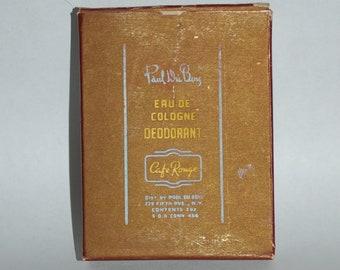 MEN'S TOILETRY BOX - Vintage Paul DuBois Eau de Cologne Deodorant Box - Art Deco Collectible