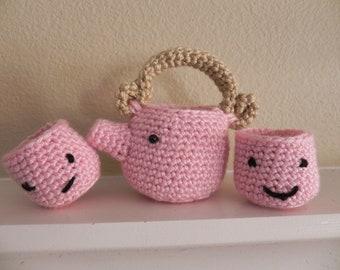 Amigurumi/Toy Tea Set-Crochet Chado Tea Set