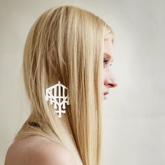 Cutout Gate Earring (Brass)