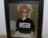 "Victorian Lady Nine Inch Nails 8"" X 10.5"" Rock T-Shirt NIN Framed Acrylic Painting"