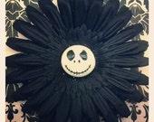 Nightmare Before Christmas- Jack Skellington Black Flower Hair Clip