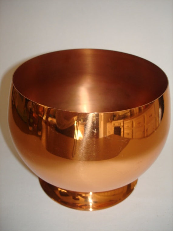 Copper Pot Or Bowl Marked Coppercraft Guild Taunton Mass