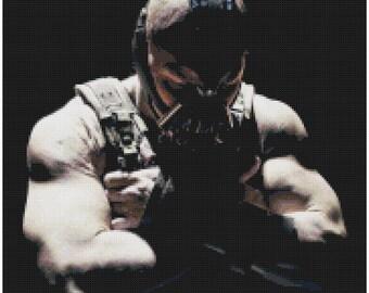 Bane Cross Stitch Pattern: The Dark Knight Rises