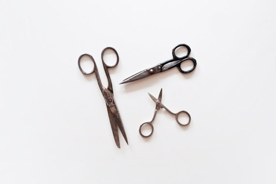 Vintage Scissors - set of 3 - made in Soviet Union