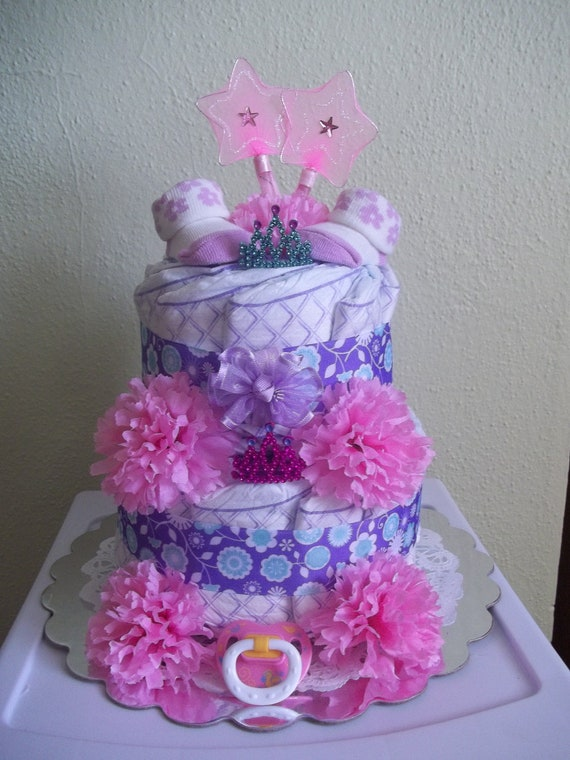 Two-Tier Princess Diaper Cake