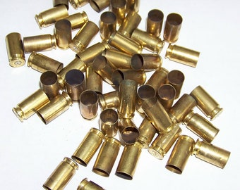 Brass .40 Caliber Bullet Shell Casings (50) pieces 40 cal.. Inert. Recycled. Bullets. Jewelry