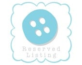Reserved Listing for Rachael Overs