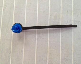 Royal Blue Bud Hair Pin