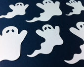 16 Die cut paper ghosts, halloween, scrapbooking, decoration