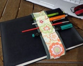 Strip diary books carry pencil pen marker brush zine red green flower blossom yellow fall office school class draw winter