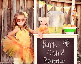Summer Lemonade - Adjustable Doll & Me Tutu SET