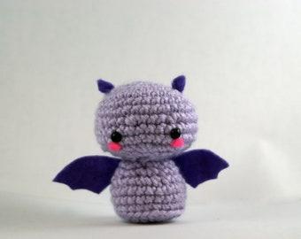 Crochet Fritz the Fruit Bat, Amigurumi Bat Toy, Bat Plush Handmade