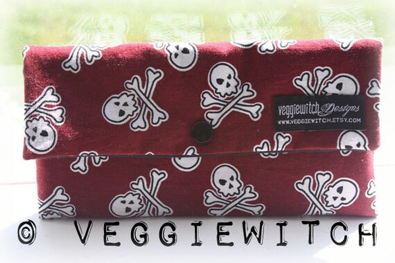 Skull and Crossbones Wallet Cotton Washable