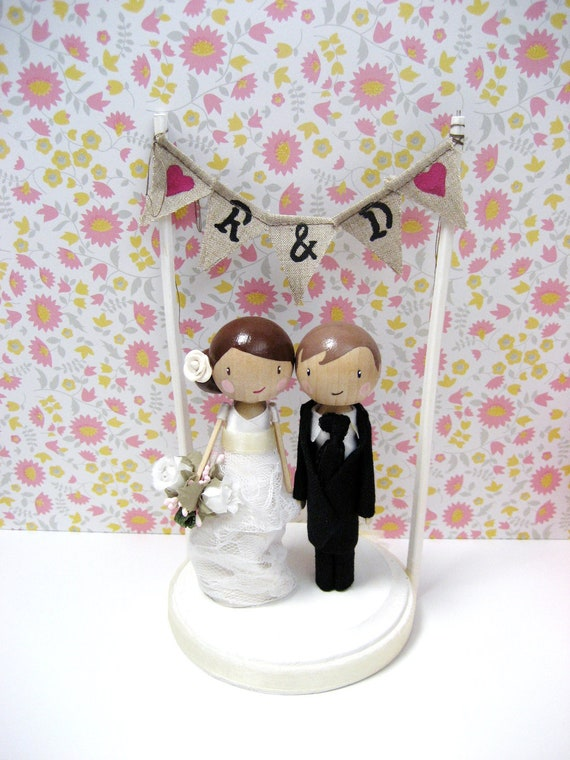 wedding cake banner toppers wedding cake topper with baker banner 21982