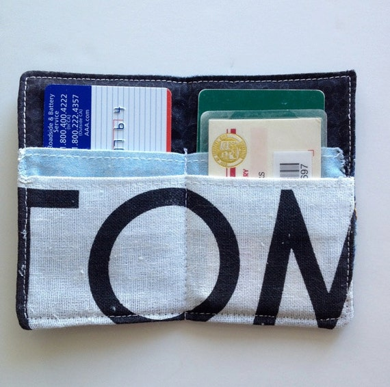 """Recycled Denim and Canvas """"Tom's"""" Wallet"""