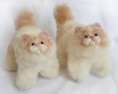 Needle felted twin persians kittens - Listing for Lindsey