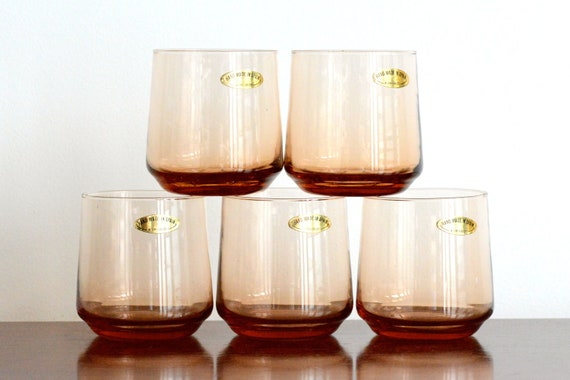 Made in Spain, brown coloured drinking goblets