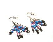 Dangle Everyday Earrings sky blue pink beads silver color block jewelry wearable summer fashion accessory olivia hunsaker