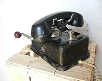 Vintage Black Telephone Art Deco...