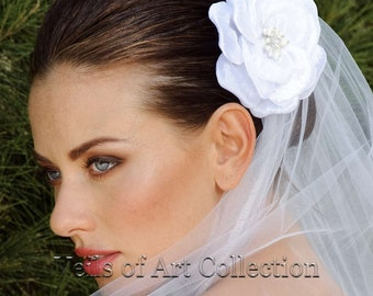 Bridal Flower Hair Accessory Headpiece by Veils of Art Style VE602