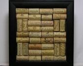 Custom Framed Wall Art - Wine Cork Shadowbox- Home Decor