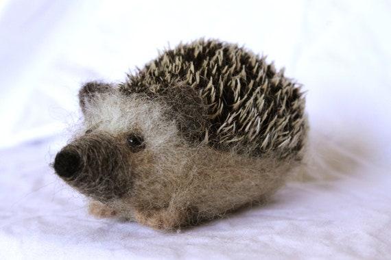 Needle felted hedgehog, woodland animal