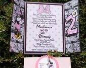 27 Minnie Mouse Invitation Pink