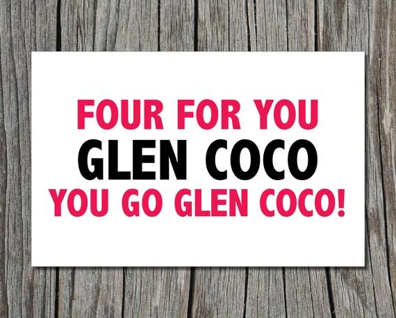 Mean Girls Glen Coco, Printable Greeting Card