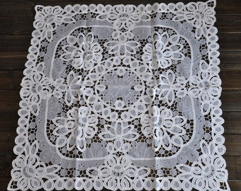 Battenburg Lace  Tablecloth  33X33 Inch  Free Shipping