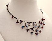 Beaded Scalloped Seedbead Memory Wire Necklace 46