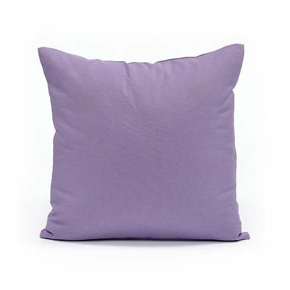 16 x 16 solid lavender throw pillow cover by bhdecor on etsy. Black Bedroom Furniture Sets. Home Design Ideas