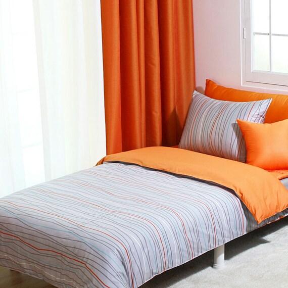 ORANGE & CREAM MODERN STYLISH QUILTED PATTERN DUVET QUILT ...  Orange Duvet Cover