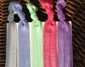 The Pastel Rainbow Elastic Hair Ties (and bracelets) Collection