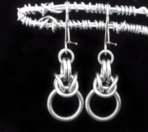 Stainless steel Chainmail Drop Earrings