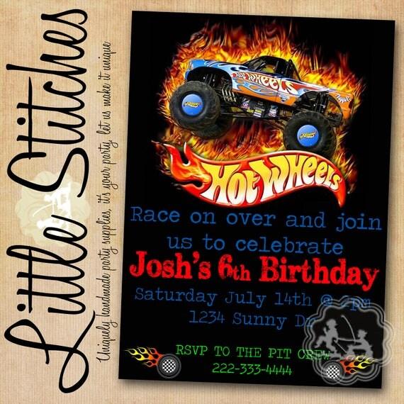 Items Similar To Hot Wheels Birthday Invitation On Etsy