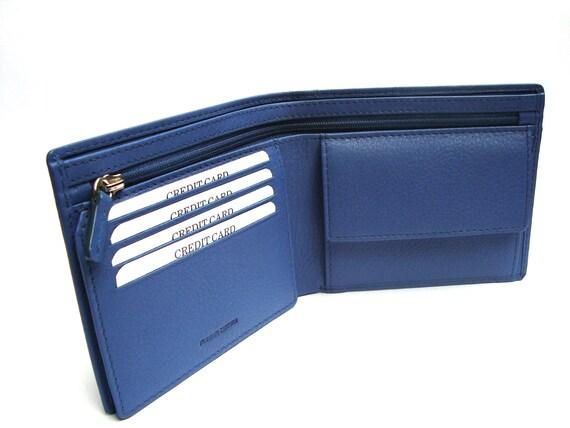 men wallet leather Blue