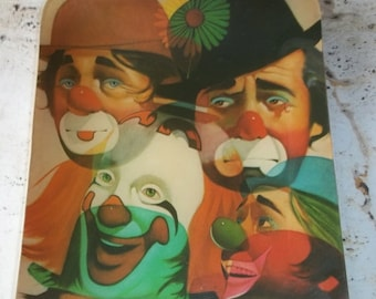 25% Off Sale Vintage Clown Plate and Wall Hanging