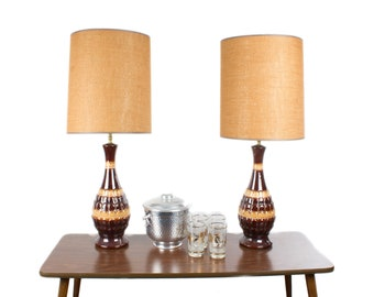 Vintage Table Lamp Pair 1970