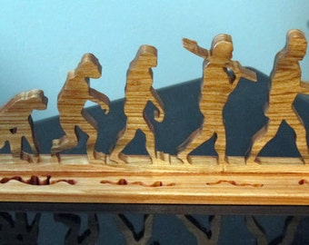 Evolution Wood Desktop Sign Ornament