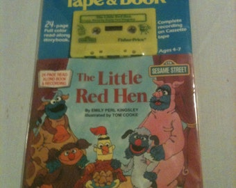"Fisher Price Sesame Street Tape and Book ""The Little Red Hen"" new"