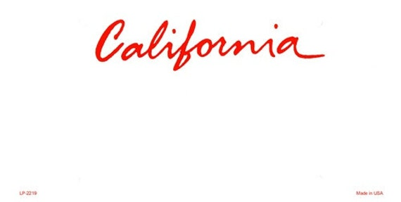 Items similar to Personalized California Custom Aluminum Novelty ...