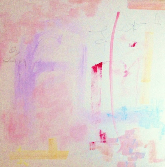 Rose, original abstract painting