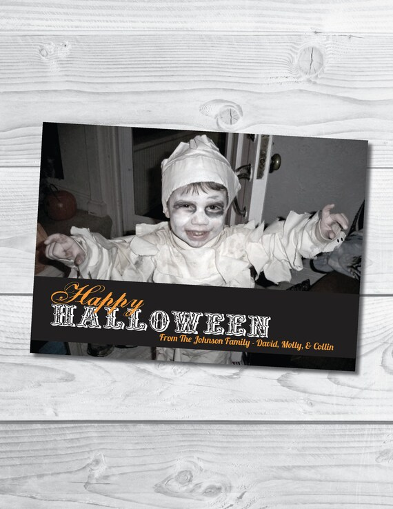 Happy Halloween Full Photo Card - Printable