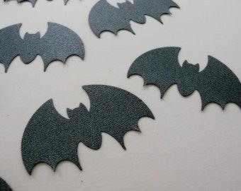 Glitter Steel Gray Black Bat Halloween Cut Outs, Bat Halloween Decoration Tag Embellishment, Set of 16