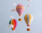 Hot Air Balloon Mobile - Baby Child Mobile - Custom - You Pick Fabric/Color