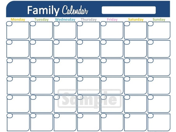 Family Calendar Printable : Unavailable listing on etsy